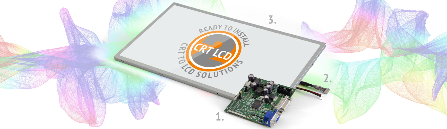 CRTtoLCD display controllers sets